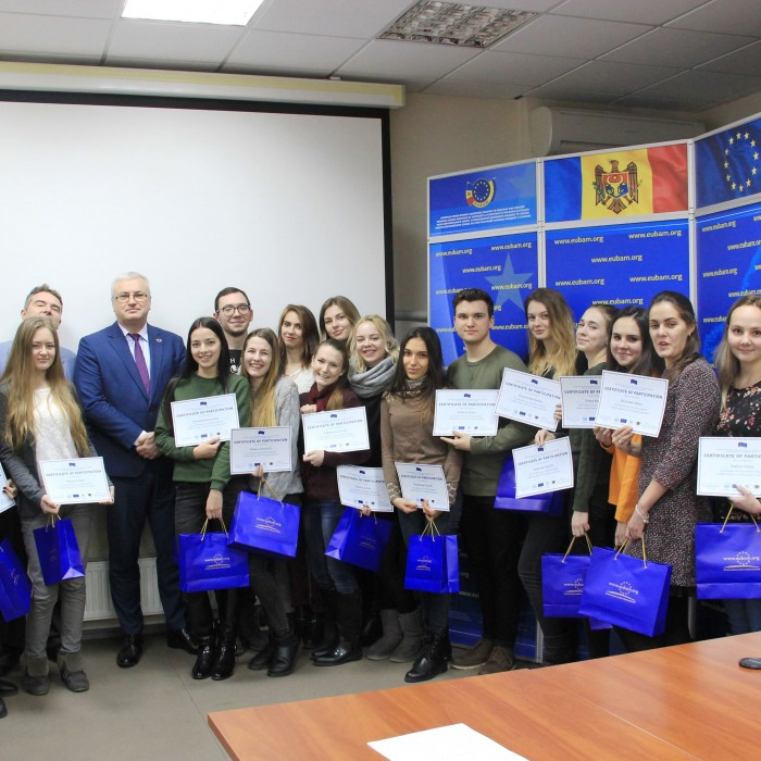 """ONU students of the specialty """"International economic relations"""" are awarded with the EUBAM certificates"""